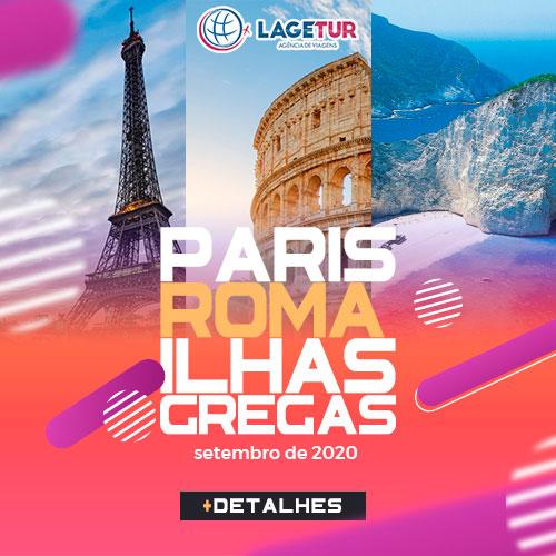 Paris, Roma e Ilhas Gregas Pacotes Esclusivos Lagetur 2020